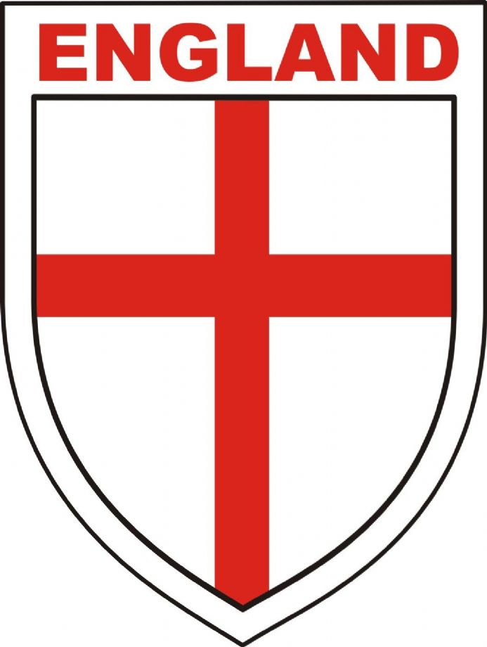 England Shield Car Window Sticker